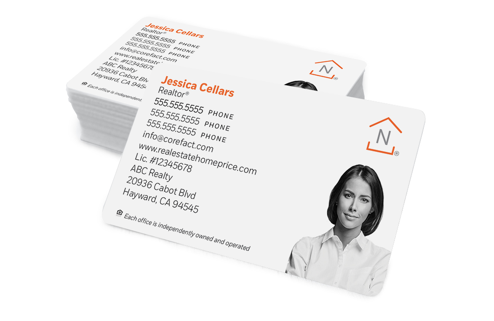Corefact Standard Business Card 01 - Black/White Silhouette Photo