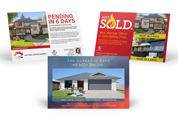 real estate postcards hot market