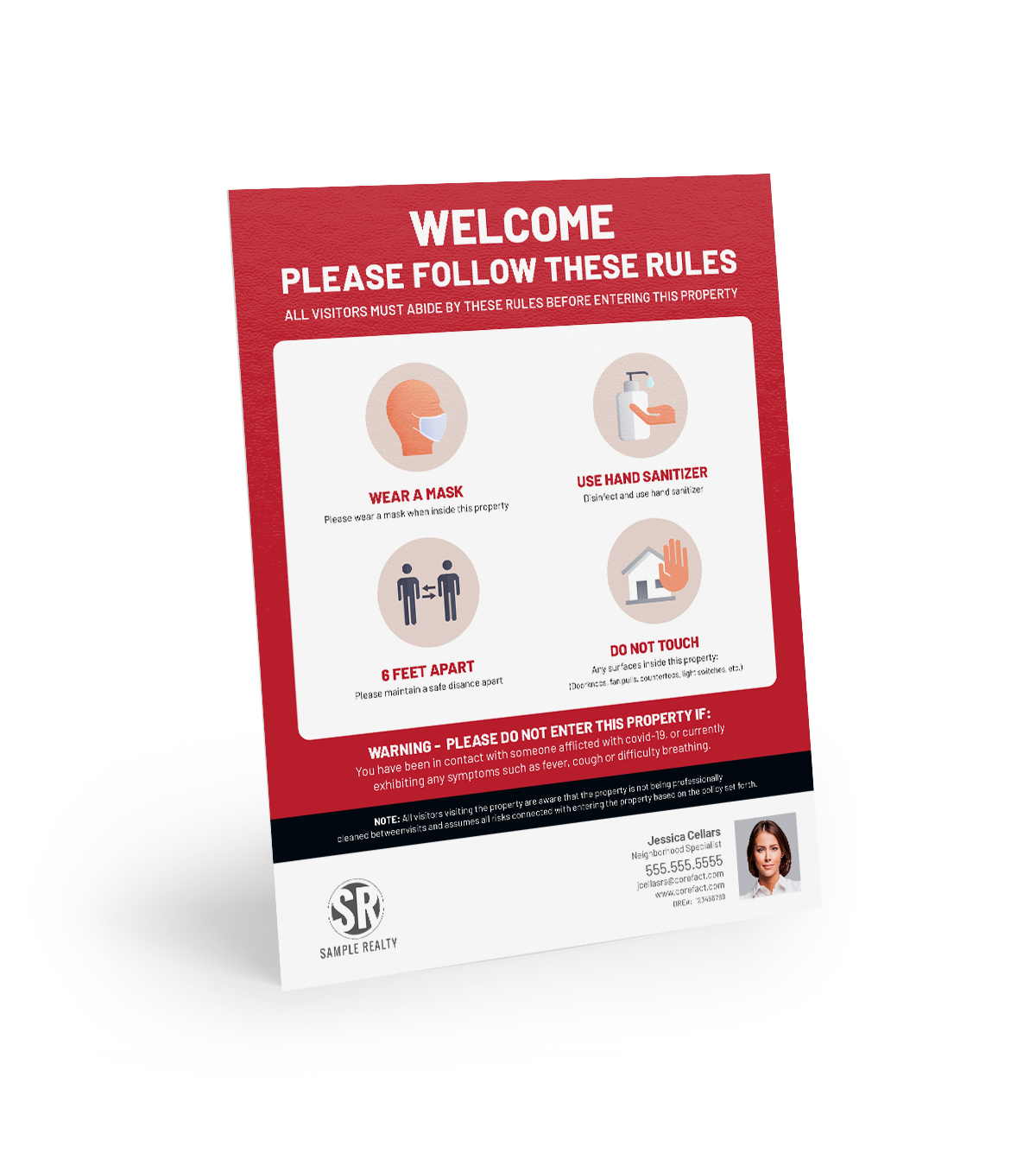 Corefact Covid-19 Compliance Sign - 01