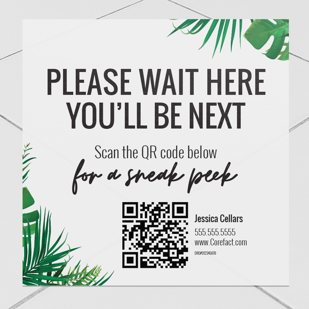 Corefact Oasis Collection Decal - Please Wait Here