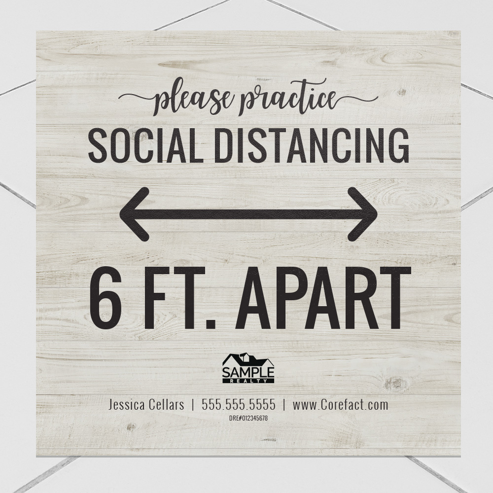 Corefact Wood Collection Decal - Social Distancing