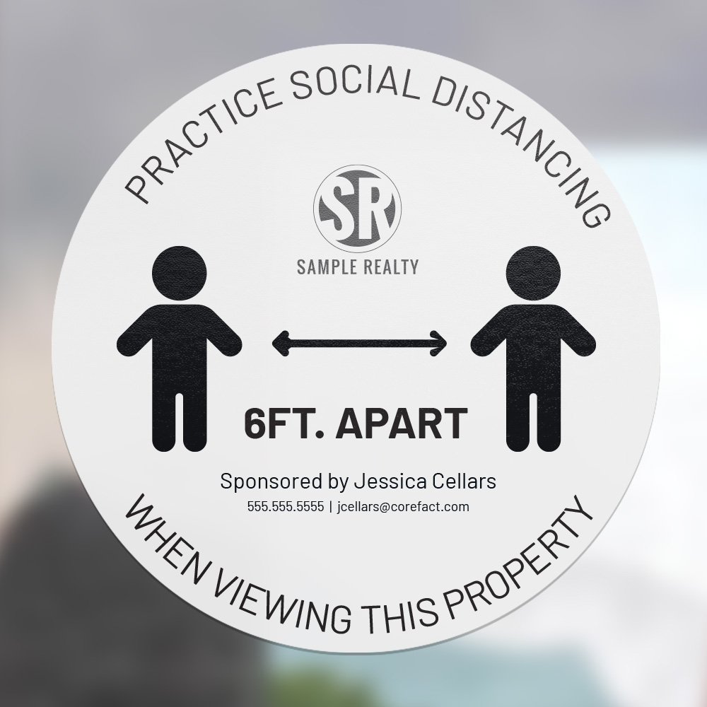 Corefact Circle Cling - Practice Social Distancing