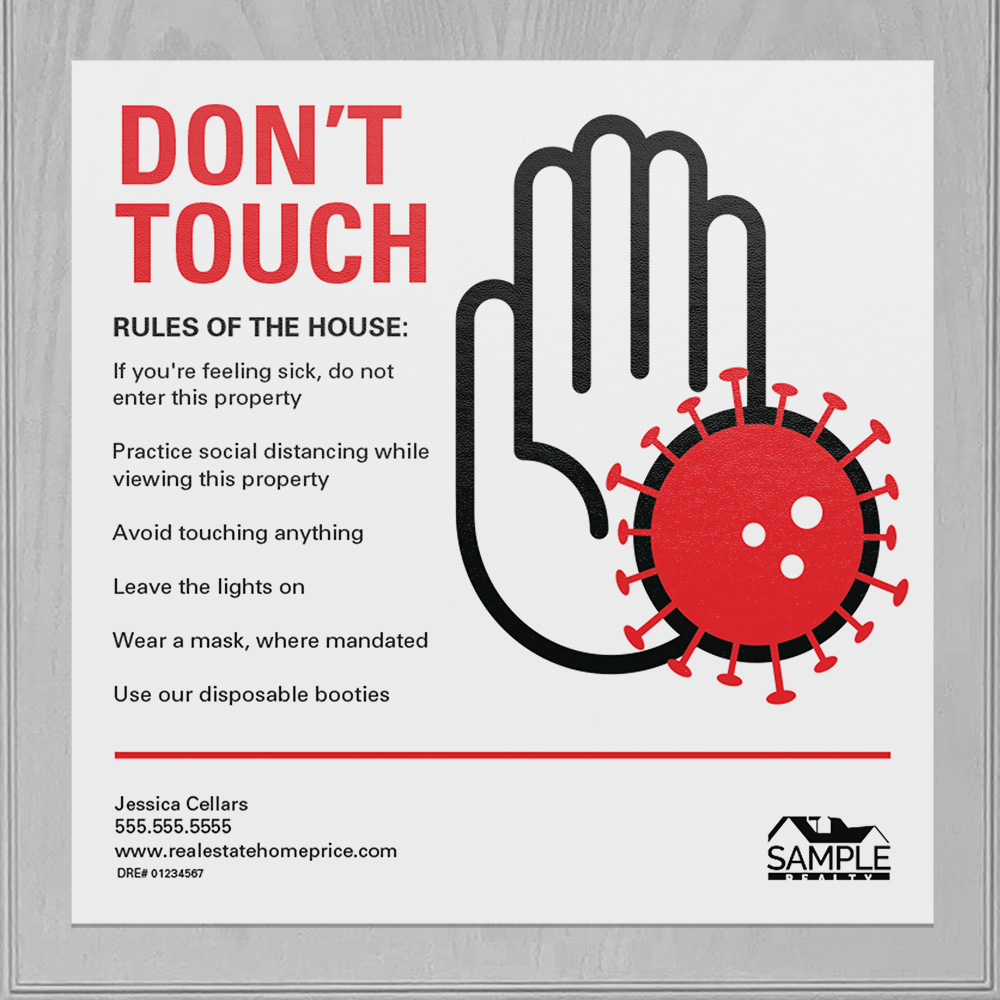 Corefact Square Cling - Don't Touch