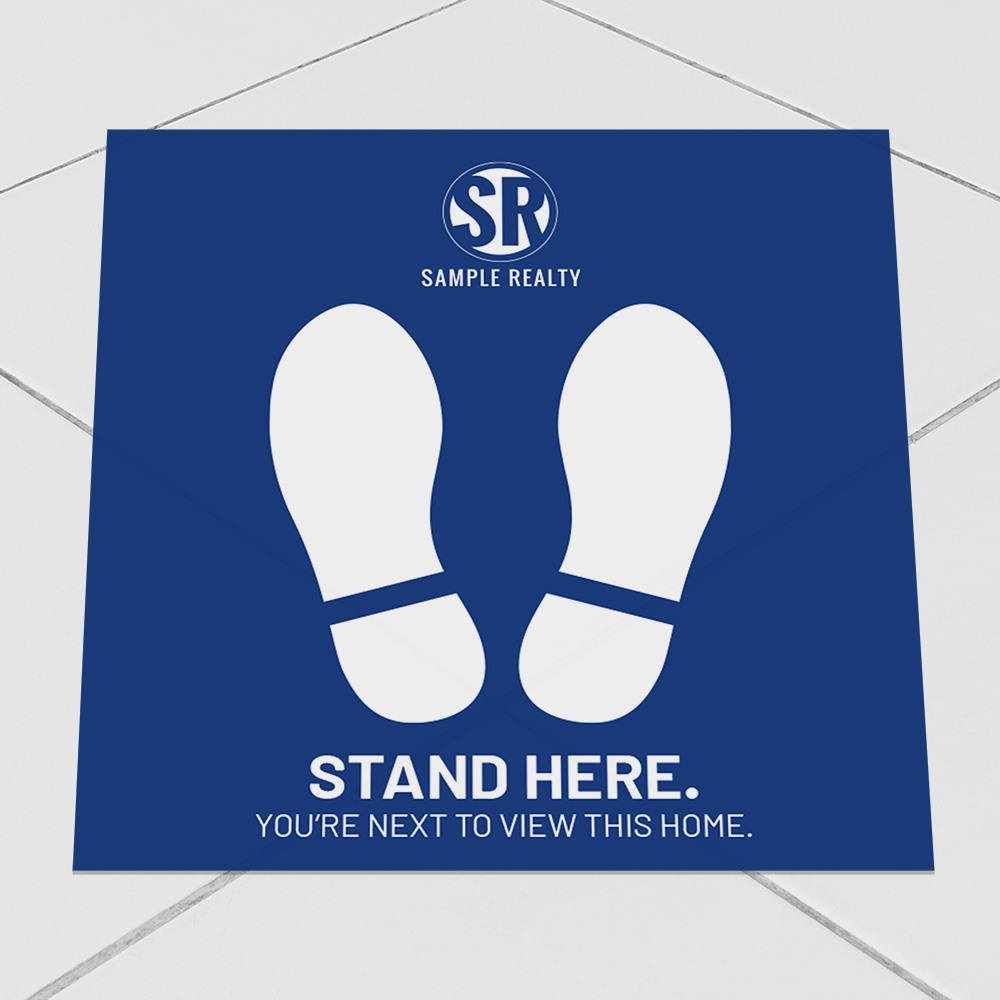 Corefact Square Decal - Stand Here - Color