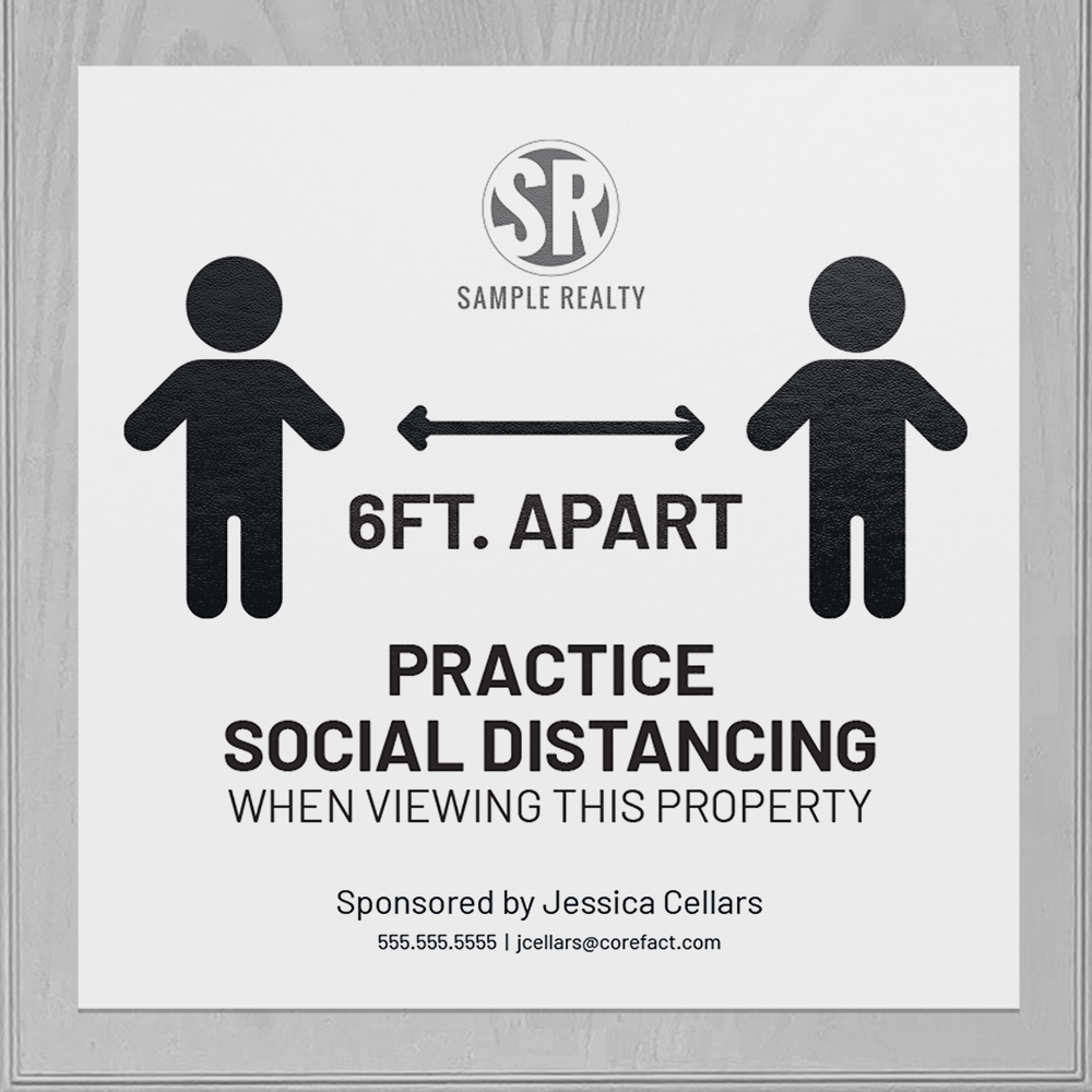 Corefact Square Cling - Practice Social Distancing
