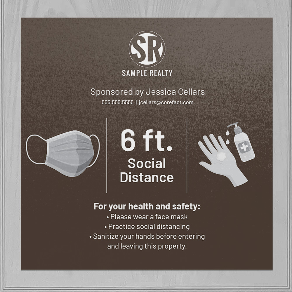 Corefact Square Cling - Social Distance - Color
