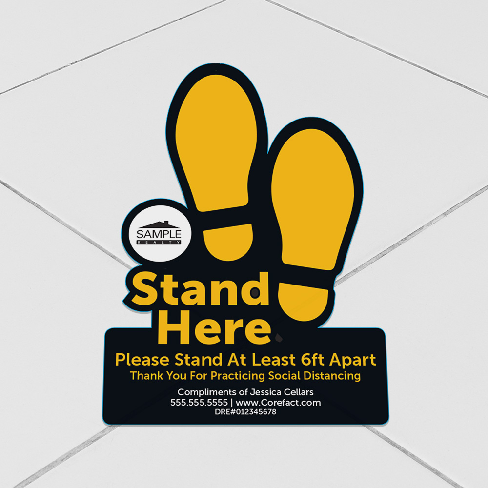 Corefact Floor Decal - Stand Here