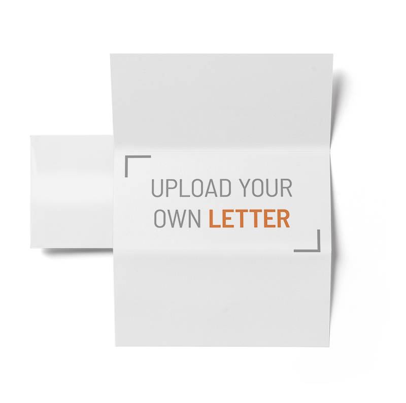Corefact 8.5 x 11 - Folded Letter + Envelope - Single Sided