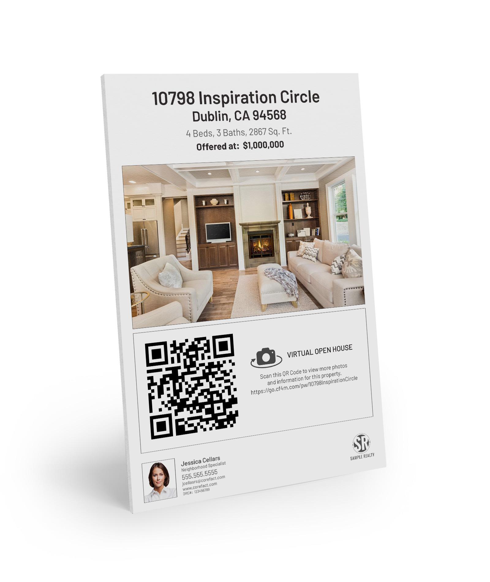 Corefact Property Flyer Sign - QR 1 Photo
