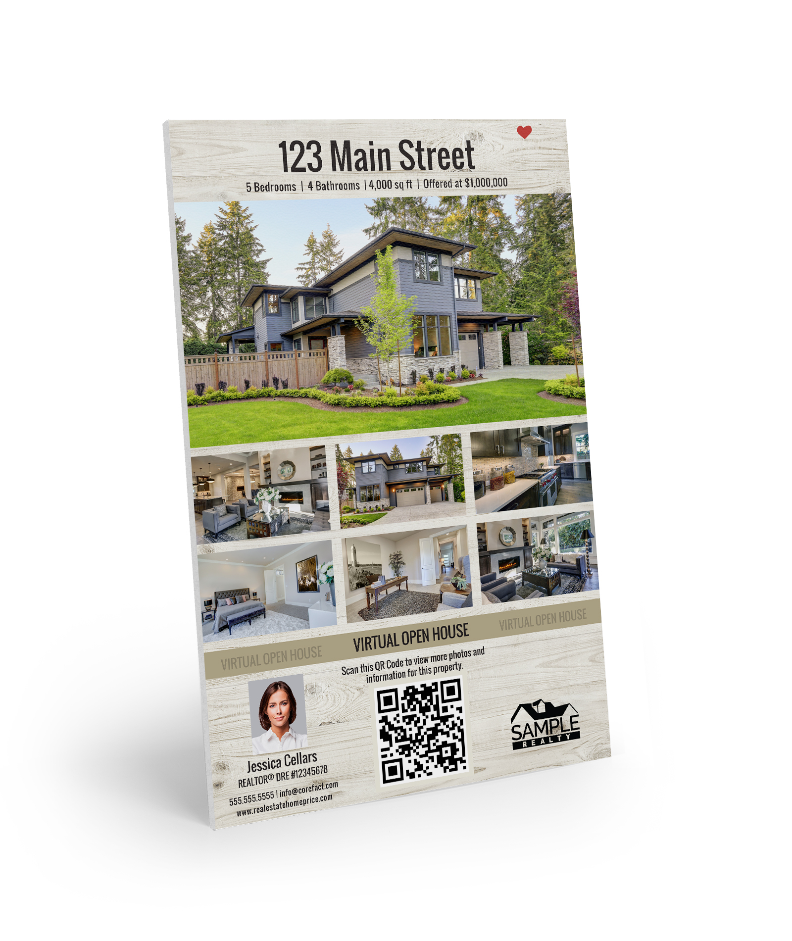 Corefact Property Flyer Sign - Wood Collection