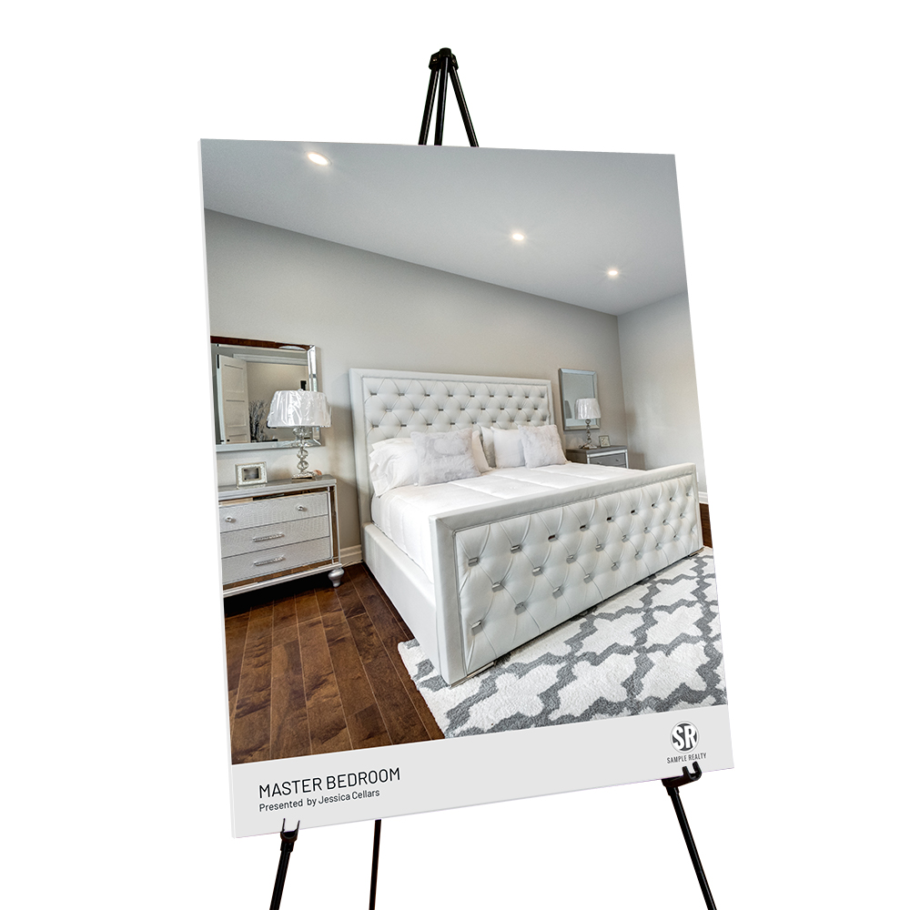 Corefact Staging Sign - Master Bedroom (Portrait)