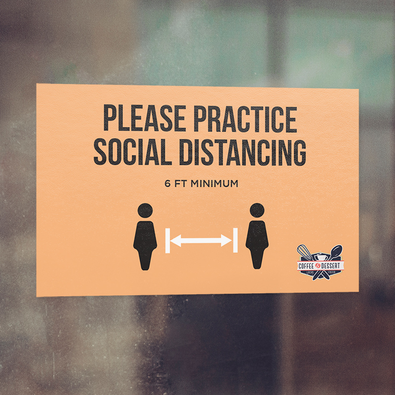 Corefact Window Cling - Practice Social Distancing