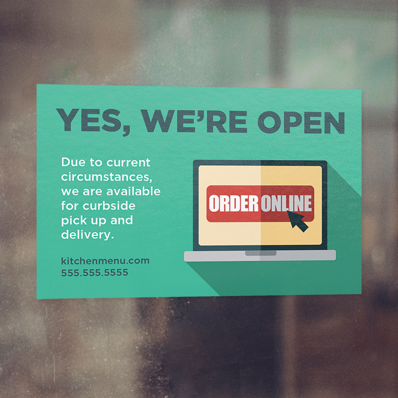 Corefact Window Cling - Yes, We're Open