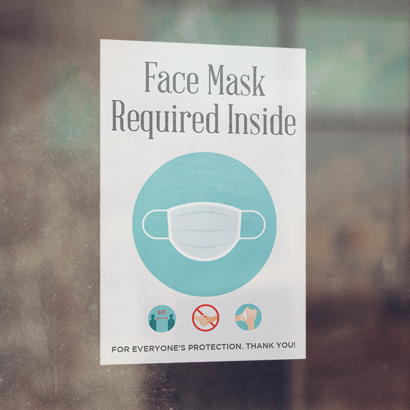 Corefact Window Cling - Face Mask Required