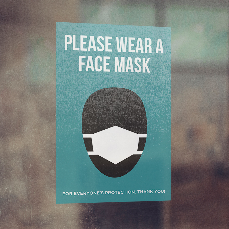 Corefact Window Cling - Please Wear a Face Mask
