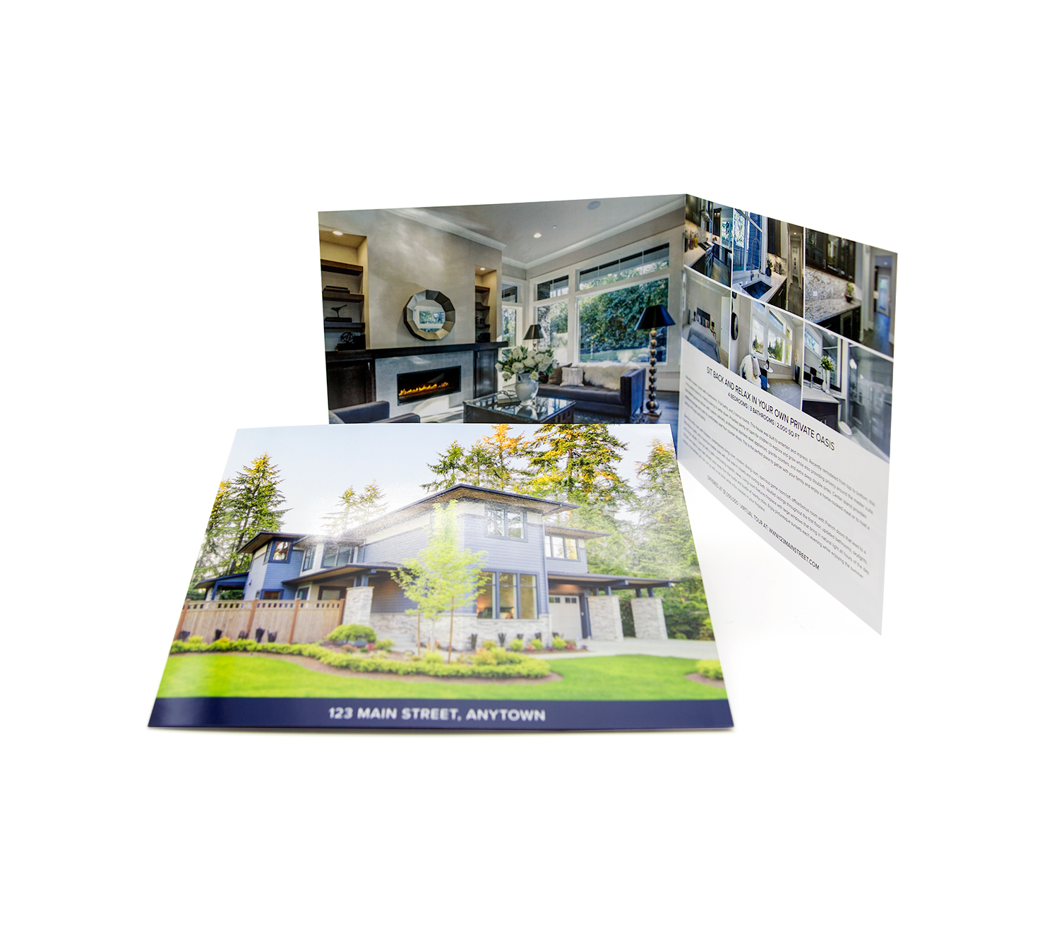 Four-sided 8x8 brochure