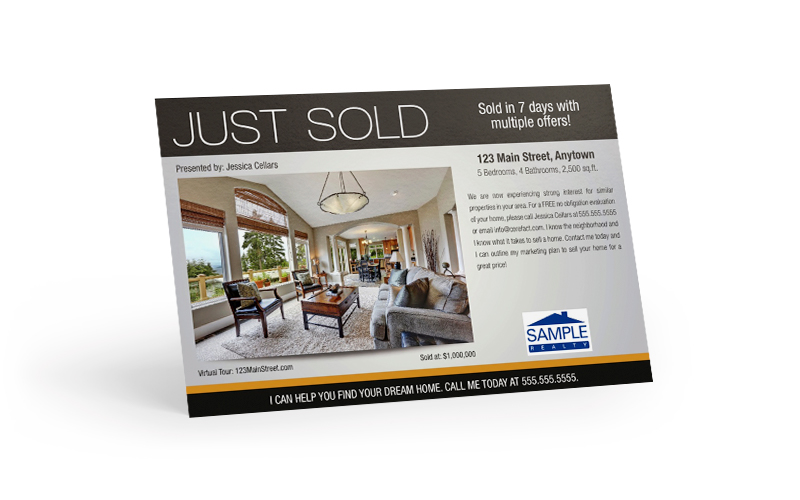 Just Sold Postcard -- With a call to action