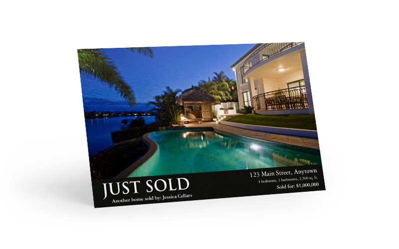 Just Sold Postcard -- Another home sold by