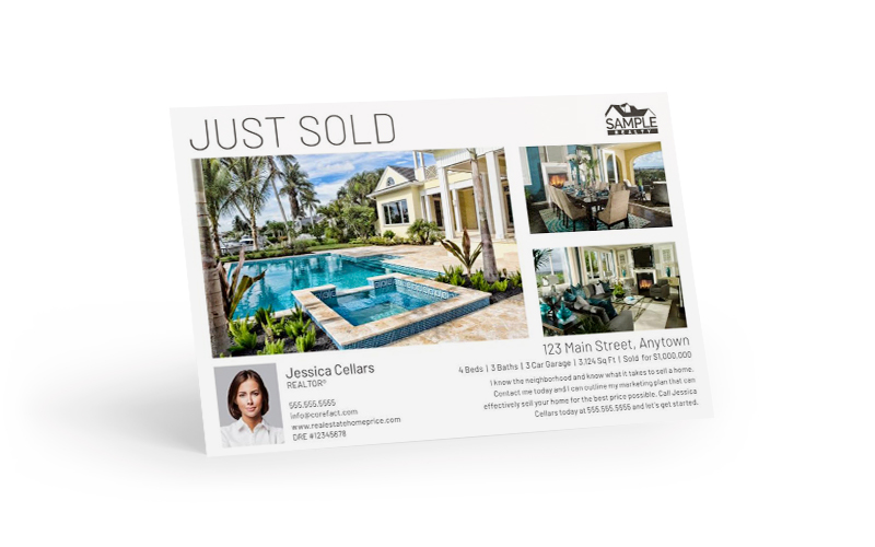 Just Sold Postcard -- With three featured images