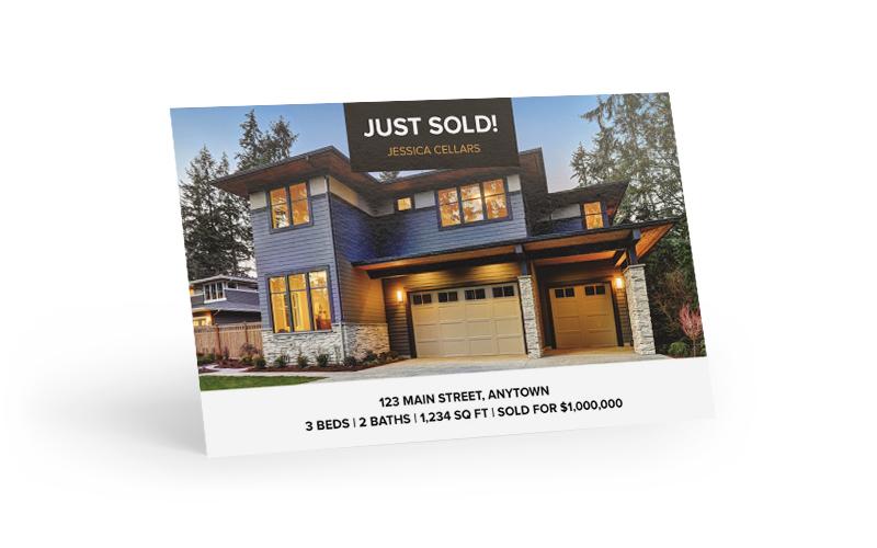 Just Sold Jumbo Bold Postcard