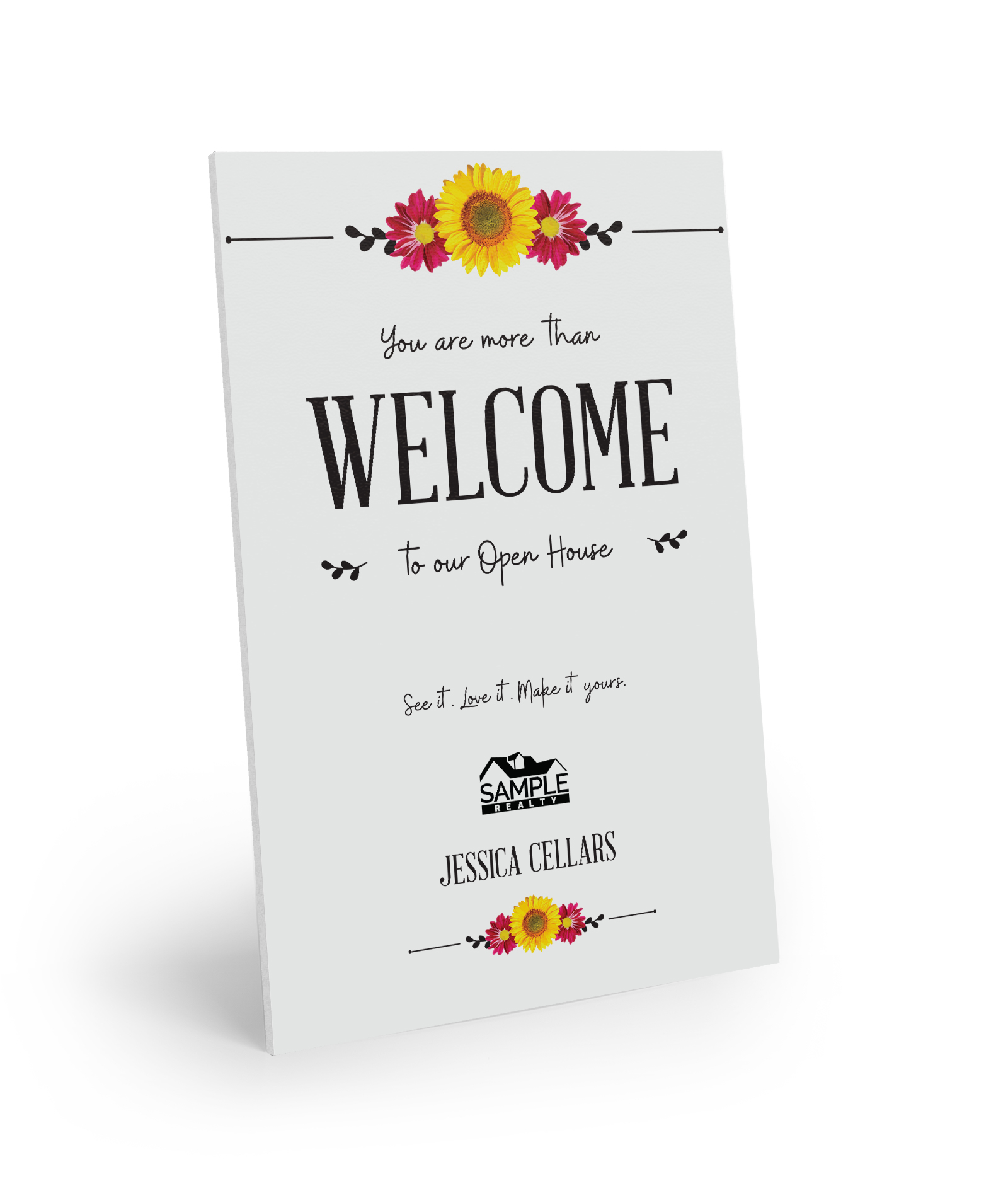 Corefact Welcome Sign - Floral