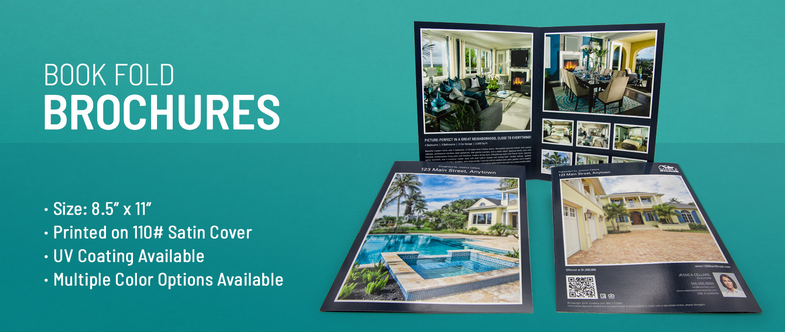 Luxury Property Book Fold Brochures