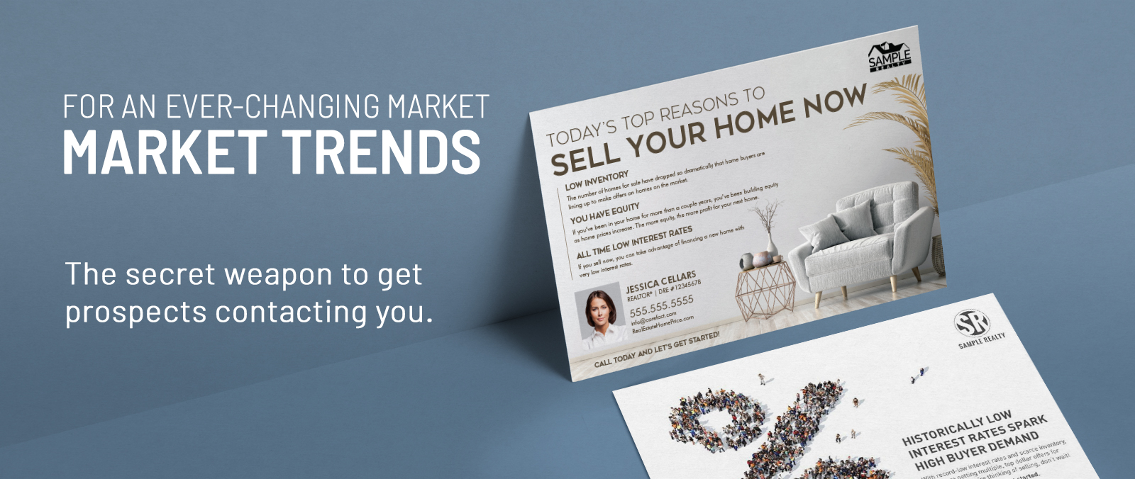 Real Estate Market Trends Postcards