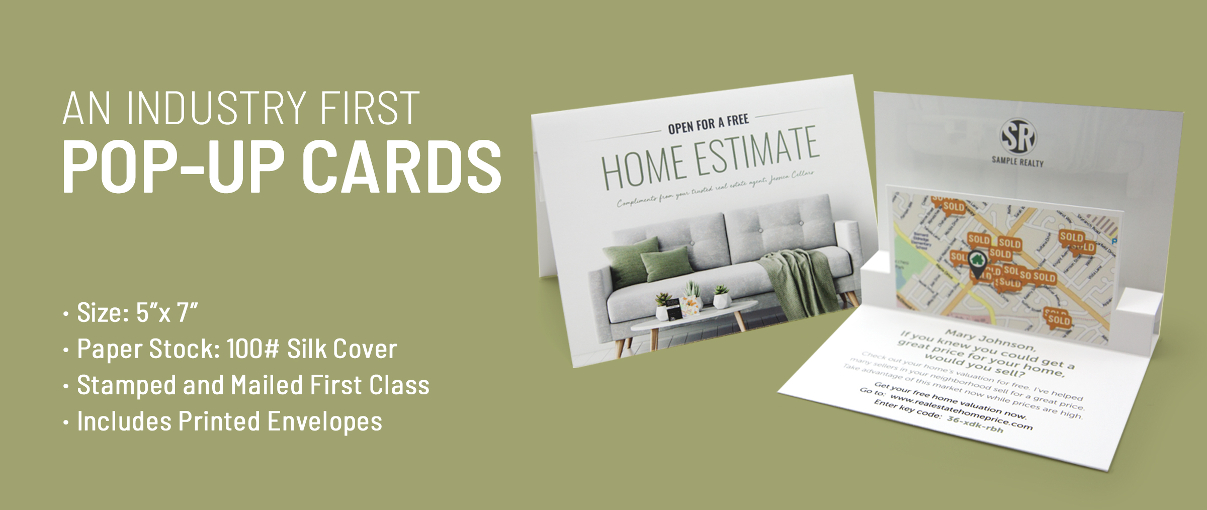 Real Estate Pop-Up Cards