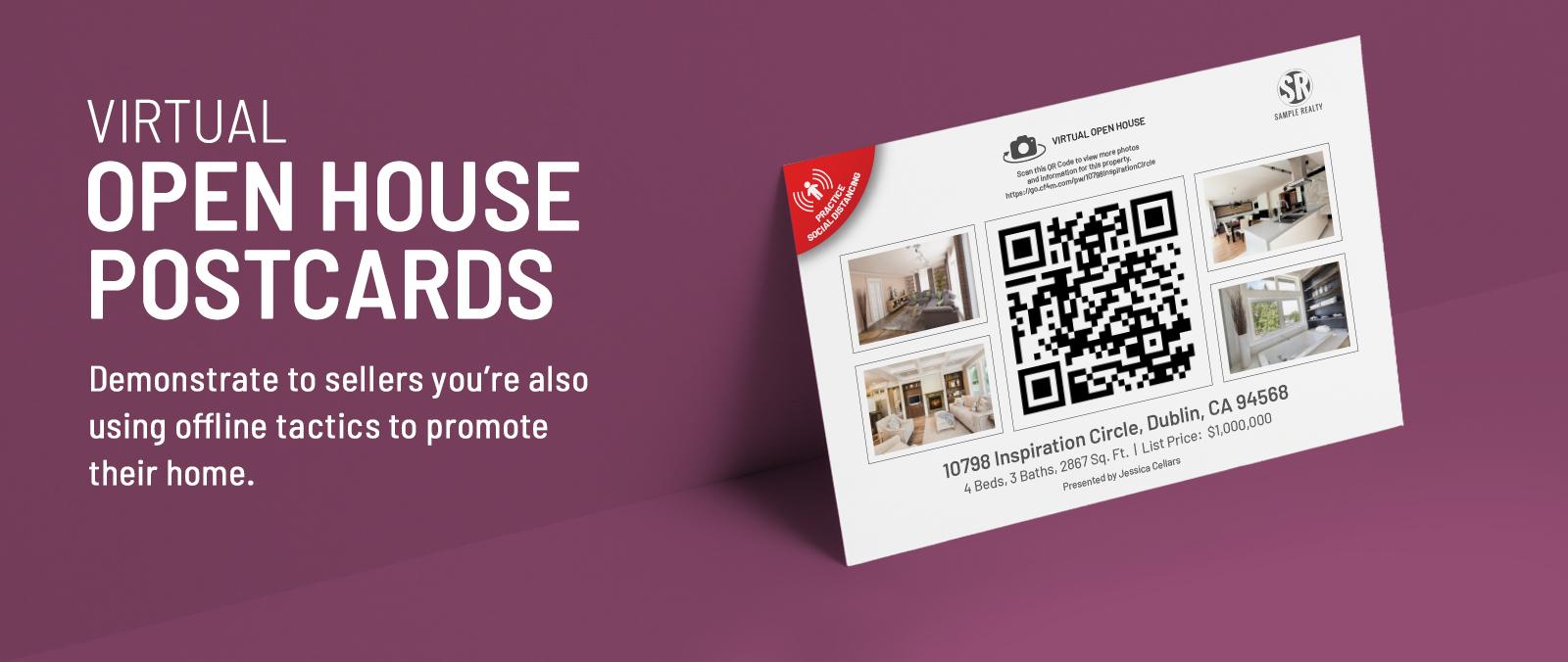 Virtual Open House Postcards