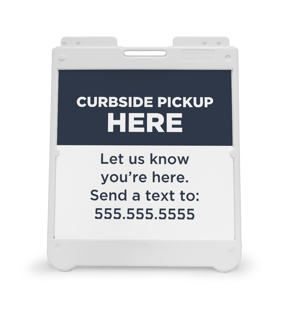 Corefact A-Frame Sign - Curbside Pickup Here