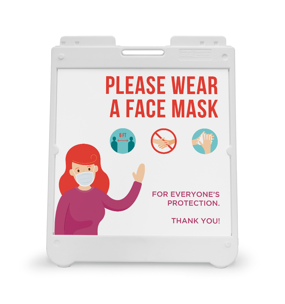 Corefact A-Frame Sign - Mask For Protection