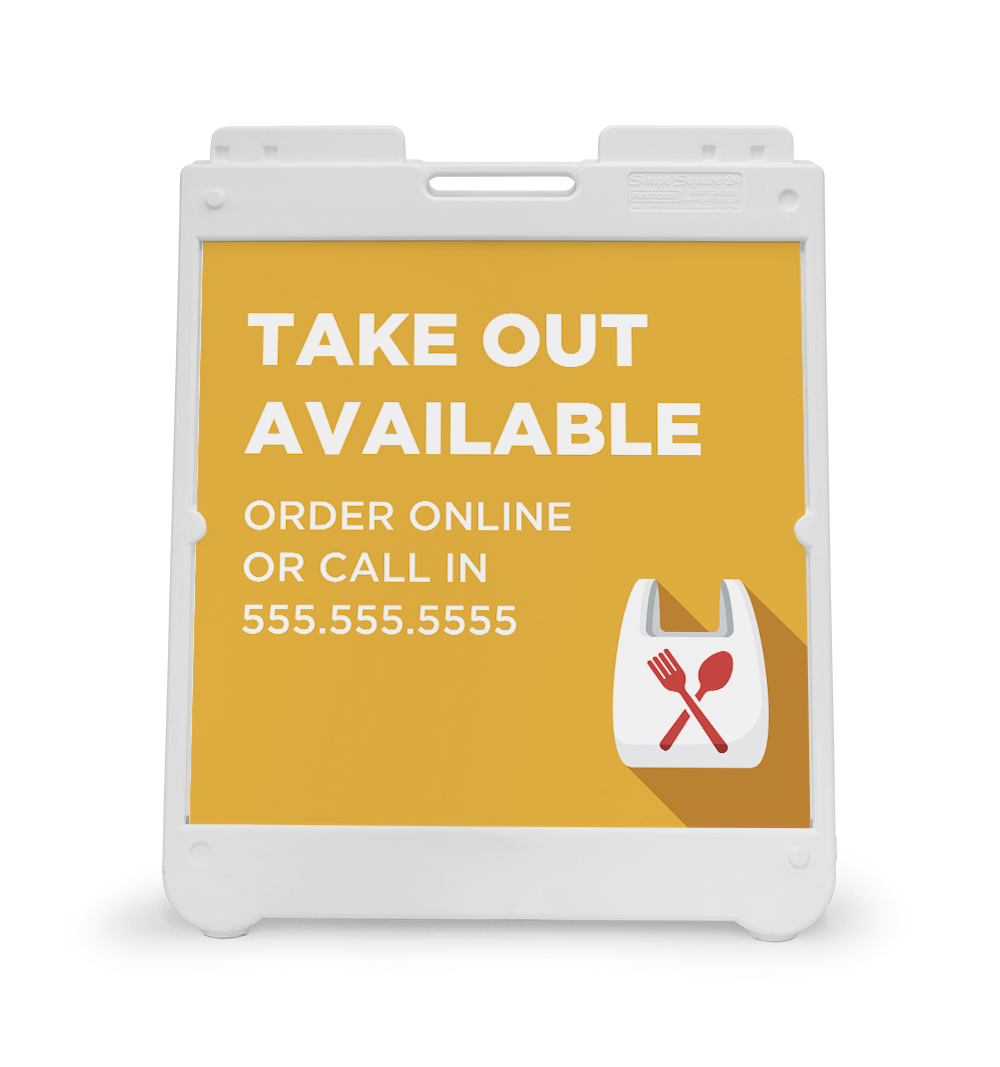 Corefact A-Frame Sign - Take Out Available
