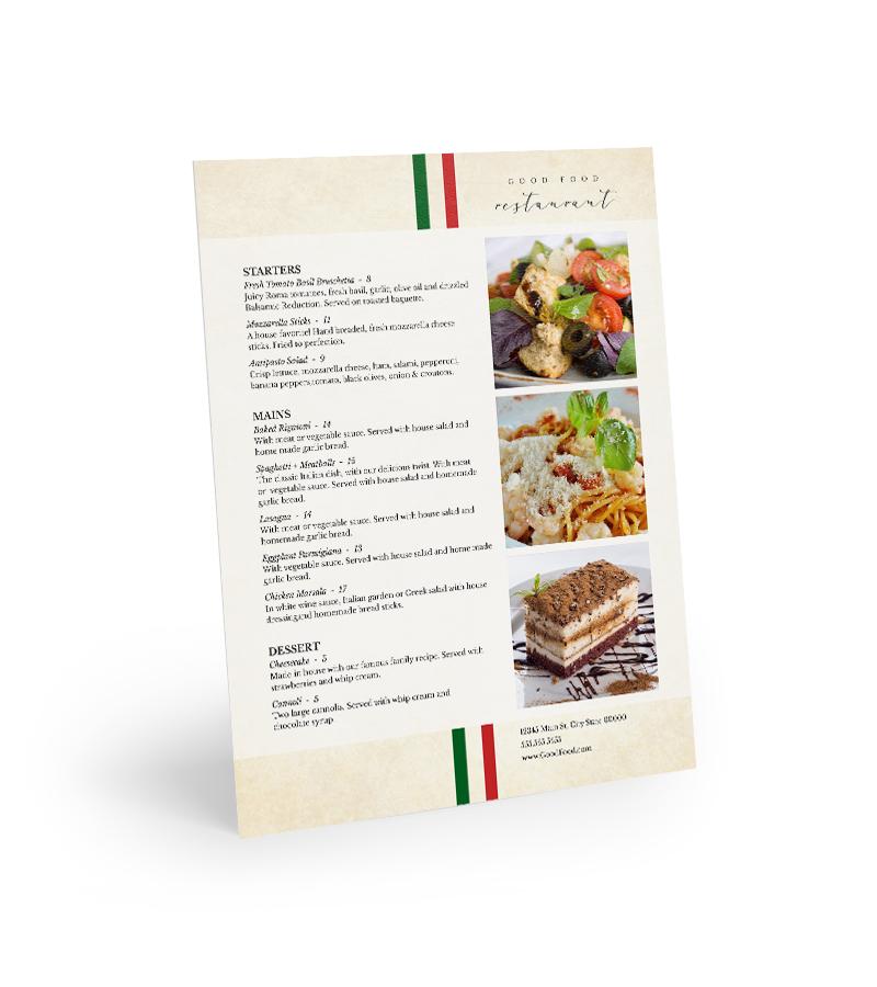 Corefact Menu - Italian Photos