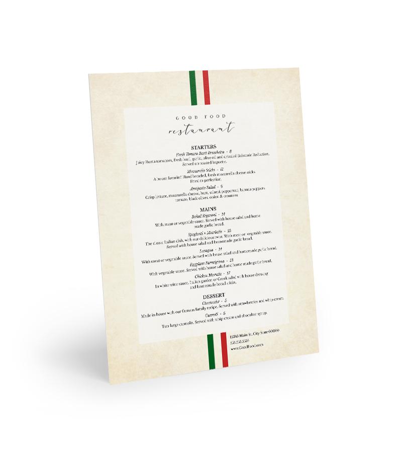 Corefact Menu - Italian